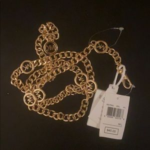 Brand NWT MK gold chain belt
